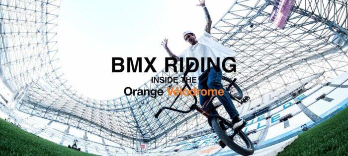 Matthias Dandois – BMX riding inside the Orange Velodrome!