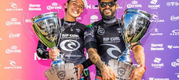 Carissa Moore e Italo Ferreira vincono il Rip Curl Newcastle Cup Pres. di Corona